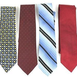 Claiborne Men's Necktie 4 Designer Silk Ties   453